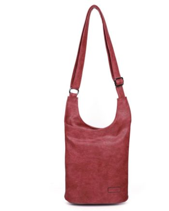 damen umhängetasche Clara, Leder Vegan, Crossbody Bag, Crossbody, Messenger Bag, Rot, H-Material