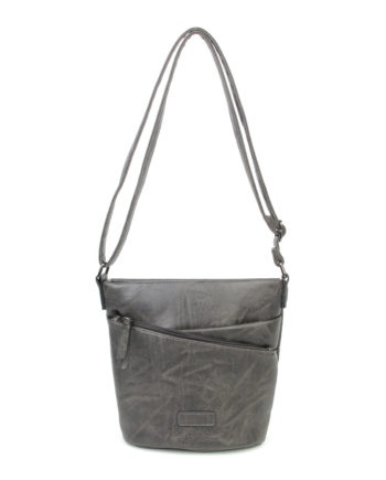 damen umhängetasche Ida, Leder Vegan, Crossbody Bag, Crossbody, Messenger Bag, Schwarz, SR-Material