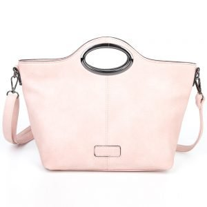 damen Henkeltasche Sophie, Leder Vegan, Crossbody Bag, Crossbody, Messenger Bag, Shopper Rose, B-Material