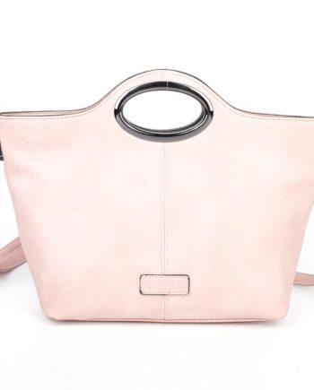 damen Henkeltasche Sophie, Leder Vegan, Crossbody Bag, Crossbody, Messenger Bag, Shopper Rose, B-Material