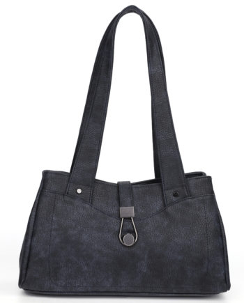 damen Schultertasche Pia, Leder Vegan, Crossbody Bag, Crossbody, Messenger Bag, Shopper Blau, B-Material