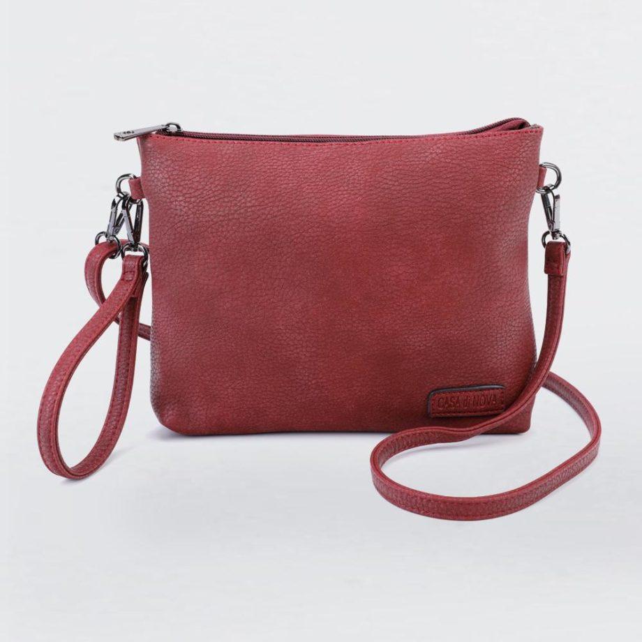 Handtasche, einfache Umhängetasche, Clutch rot 1