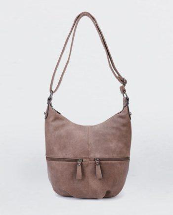Braune Umhängetasche Damen, Handtasche, Crossoverbag, Jasmin, B-Material