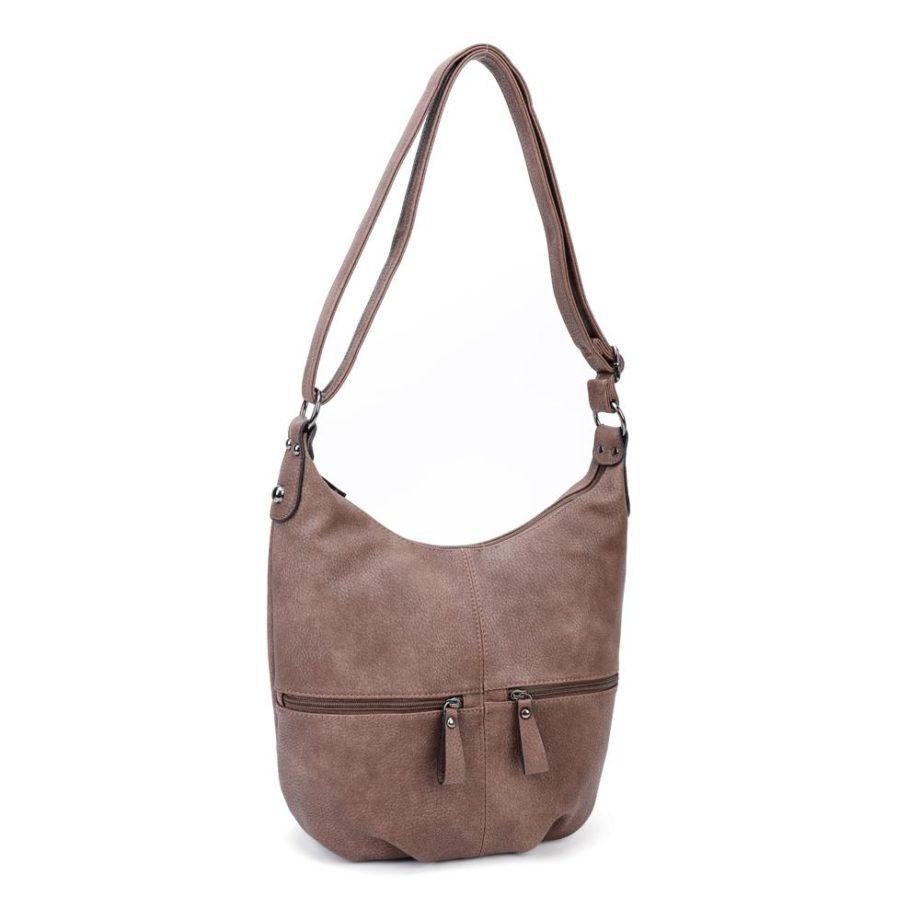 Braune Umhängetasche Damen, Handtasche, Crossoverbag, Jasmin, Tasche schräg, B-Material