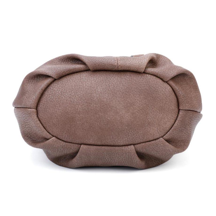 Braune Umhängetasche Damen, Handtasche, Crossoverbag, Jasmin, Tasche von unten, B-Material