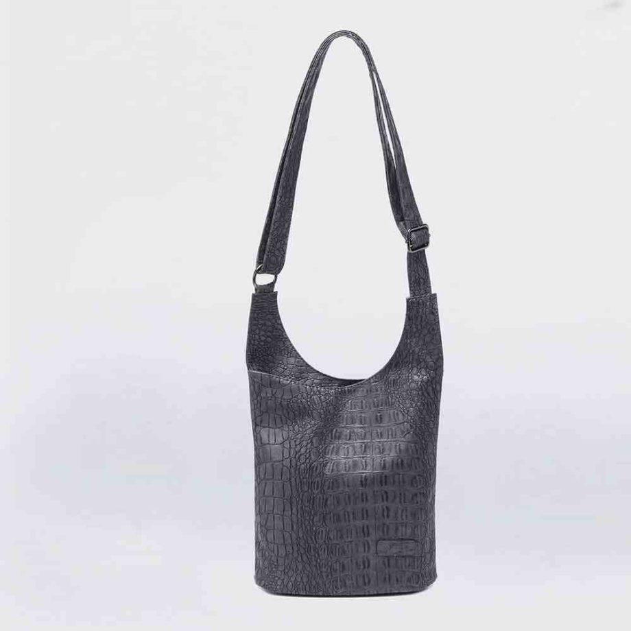 handtasche clara schultertasche umhängetasche kroko-optik modern casadionva kr-material 28