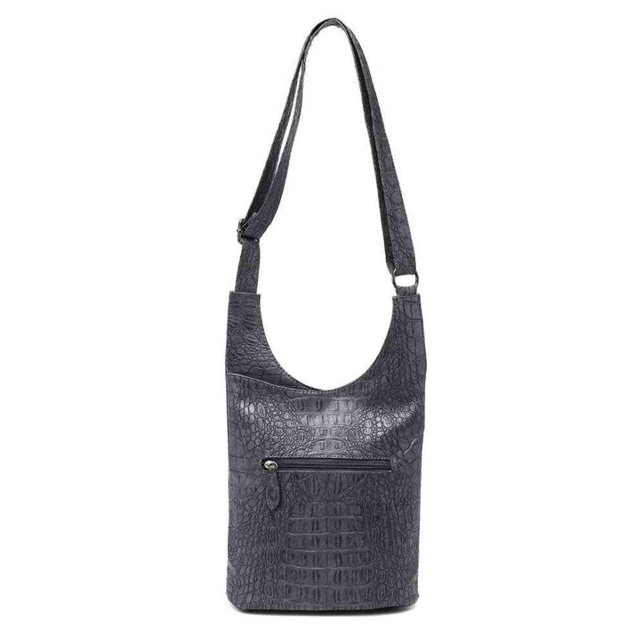 handtasche clara schultertasche umhängetasche kroko-optik modern casadionva kr-material 7